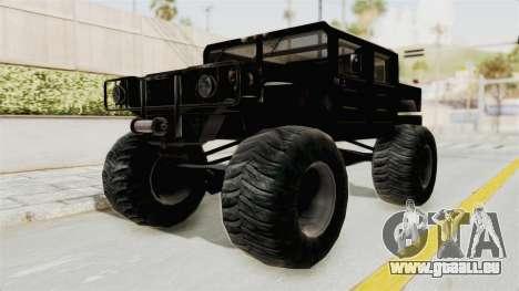 Hummer H1 Monster Truck TT pour GTA San Andreas vue de droite