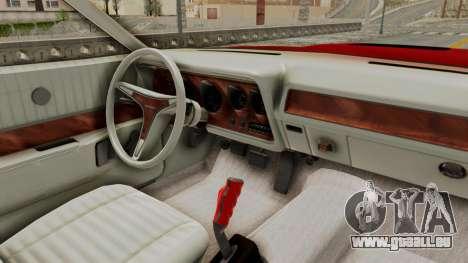 Dodge Charger 1971 Monster Truck pour GTA San Andreas vue arrière