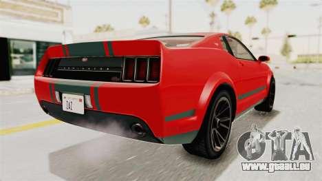 GTA 5 Vapid Dominator v2 SA Lights für GTA San Andreas linke Ansicht