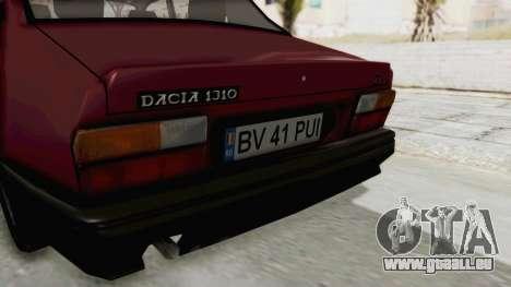 Dacia 1310L 1997 für GTA San Andreas Innenansicht