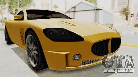 GTA 5 Ocelot F620 SA Lights pour GTA San Andreas sur la vue arrière gauche