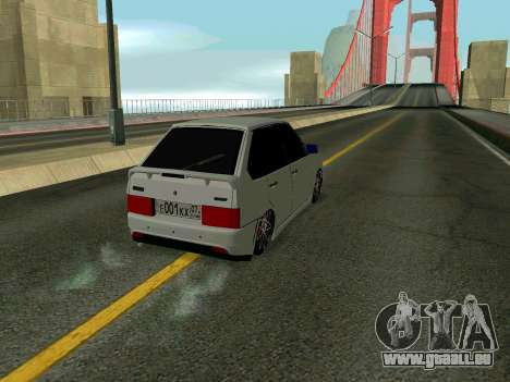 VAZ 2114 KBR pour GTA San Andreas vue intérieure