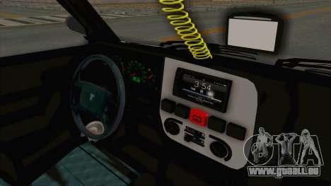 Tofas Dogan SLX Koni pour GTA San Andreas vue intérieure
