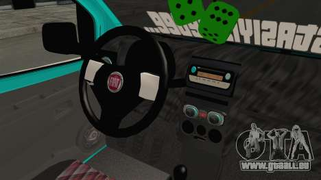 Fiat Fiorino v2 pour GTA San Andreas vue intérieure