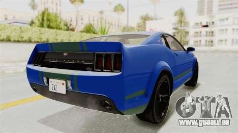 GTA 5 Vapid Dominator v2 IVF pour GTA San Andreas sur la vue arrière gauche