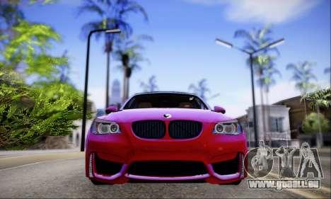BMW M5 E60 Huracan für GTA San Andreas zurück linke Ansicht
