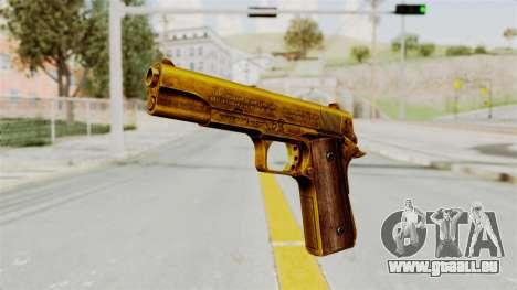 M1911 Gold pour GTA San Andreas deuxième écran