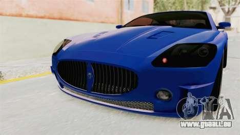 GTA 5 Ocelot F620 IVF für GTA San Andreas obere Ansicht