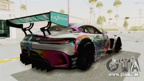 Mercedes-Benz SLS AMG GT3 2016 Goodsmile Racing pour GTA San Andreas laissé vue