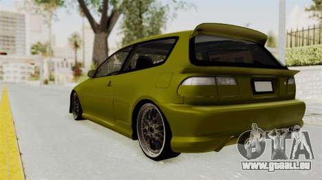 Honda Civic Fast and Furious für GTA San Andreas linke Ansicht