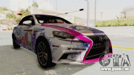 Lexus IS350 FSport Megami no Aqua für GTA San Andreas
