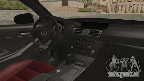 Lexus IS350 FSport Megami no Aqua für GTA San Andreas Innenansicht