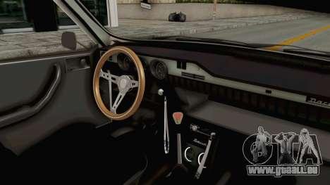 Dacia 1300 Stance Police für GTA San Andreas Innenansicht