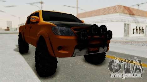 Toyota Hilux 2010 Off-Road Swag Edition für GTA San Andreas zurück linke Ansicht