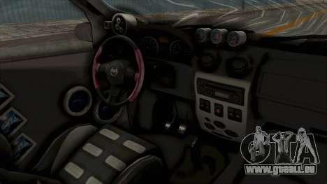 Dacia Logan Loco Tuning für GTA San Andreas Innenansicht