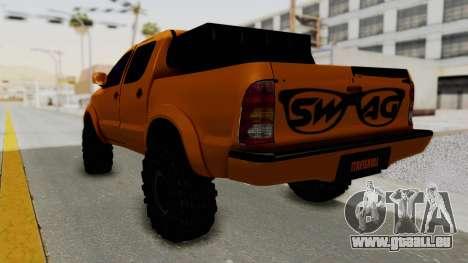 Toyota Hilux 2010 Off-Road Swag Edition pour GTA San Andreas laissé vue