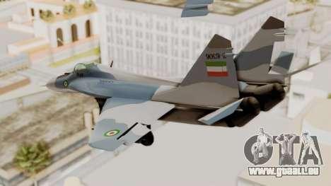 MIG-29A IRIAF pour GTA San Andreas vue de droite