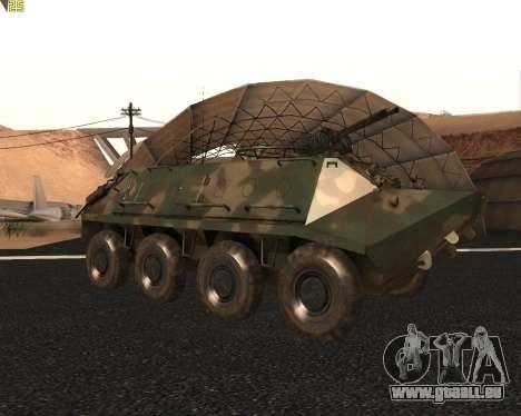 BTR 60 PA pour GTA San Andreas vue arrière