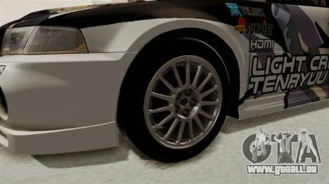 Mitsubishi Lancer Evolution VI Tenryuu Itasha für GTA San Andreas Rückansicht