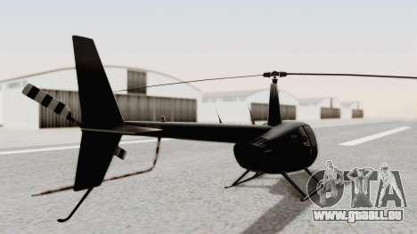 Helicopter de la Policia Nacional del Paraguay pour GTA San Andreas sur la vue arrière gauche