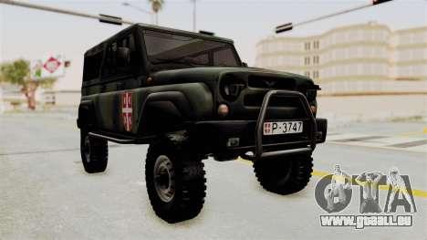 UAZ-3153 Chasseur des forces Serbes pour GTA San Andreas