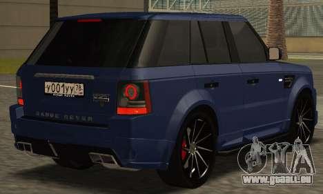 Range Rover Sport Tuning pour GTA San Andreas laissé vue