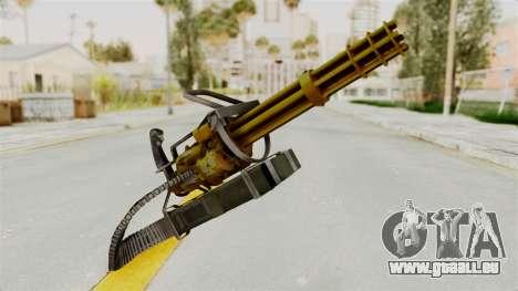 Minigun Gold pour GTA San Andreas