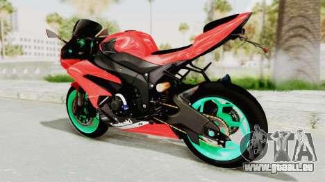 Kawasaki Ninja ZX-6R Highmodif für GTA San Andreas rechten Ansicht