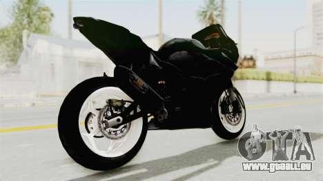 Kawasaki Ninja 250R Black Cobra RnB Anak Jalana pour GTA San Andreas sur la vue arrière gauche