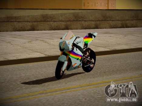 Yamaha YZR M1 2016 Rainbow Dash für GTA San Andreas