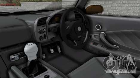Honda S2000 S2K-AP1 pour GTA San Andreas vue intérieure