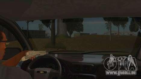 Chevrolet TrailBlazer pour GTA San Andreas vue intérieure