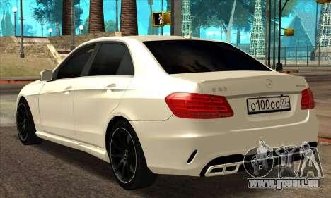 Mercedes-Benz E63 AMG 2014 für GTA San Andreas zurück linke Ansicht