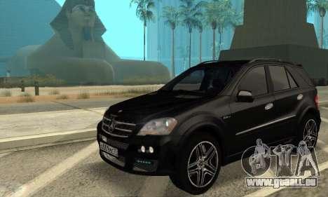 Mercedes-Benz ML 63 AMG für GTA San Andreas Rückansicht