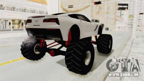 Chevrolet Corvette Stingray C7 Monster Truck pour GTA San Andreas laissé vue