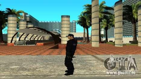 Police SWAT Skin for GTA San Andreas pour GTA San Andreas quatrième écran