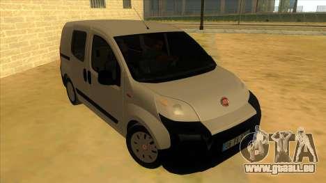 Fiat Fiorino Combi Mix pour GTA San Andreas vue arrière