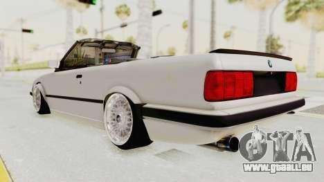 BMW 316i E30 pour GTA San Andreas laissé vue