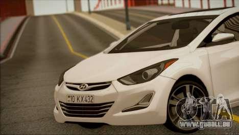 Hyundai ELANTRA 2015 STOCK für GTA San Andreas rechten Ansicht
