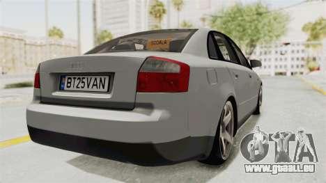 Audi A4 2002 Stock pour GTA San Andreas laissé vue