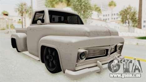 GTA 5 Slamvan Stock für GTA San Andreas rechten Ansicht