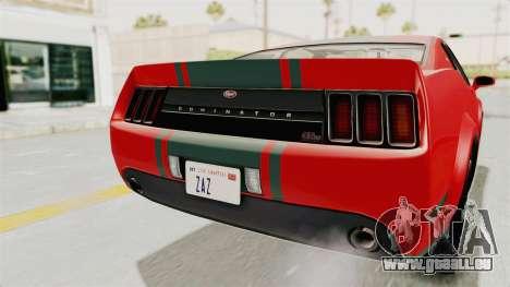 GTA 5 Vapid Dominator v2 SA Lights für GTA San Andreas obere Ansicht