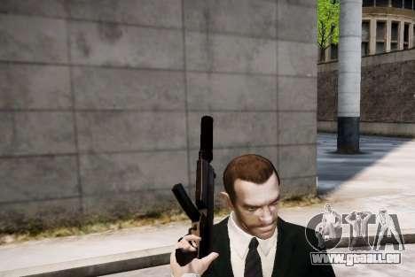 Le silencieux sur l'arme pour GTA 4 troisième écran