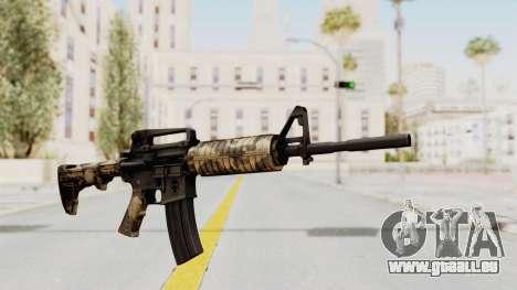 HD M4 v3 pour GTA San Andreas deuxième écran