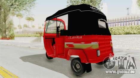 Sri Lanka Three Wheeler Taxi für GTA San Andreas linke Ansicht