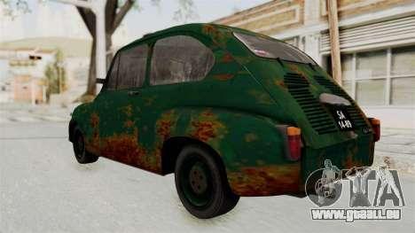 Zastava 750 Rusty pour GTA San Andreas sur la vue arrière gauche