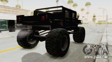Hummer H1 Monster Truck TT pour GTA San Andreas laissé vue