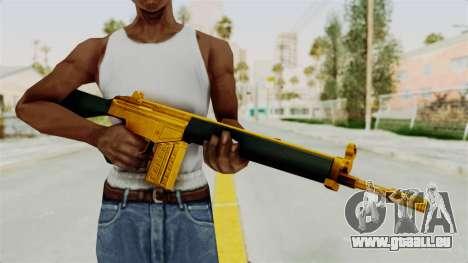 G3A3 Gold für GTA San Andreas dritten Screenshot