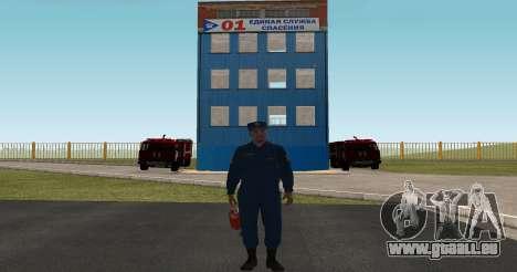 Le Colonel de l'EMERCOM de Russie pour GTA San Andreas deuxième écran
