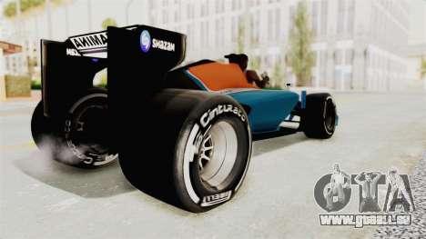 Rio Haryanto 88 F1 Manor Racing pour GTA San Andreas laissé vue